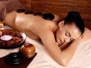 стоун терапия, массаж камнями
