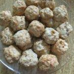 Полезные десерты-ореховое печенье с яблоками