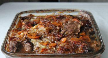 Рецепт говядины с черносливом в духовке
