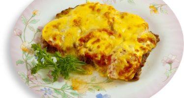 Телятина с сыром и помидорами