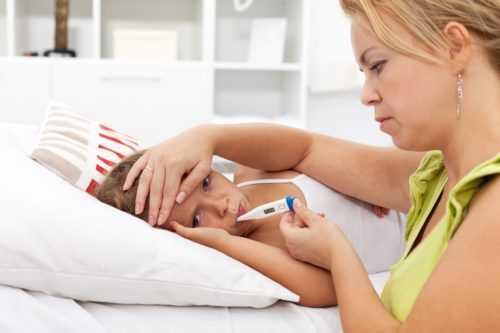 Как снизить высокую температуру у ребенка