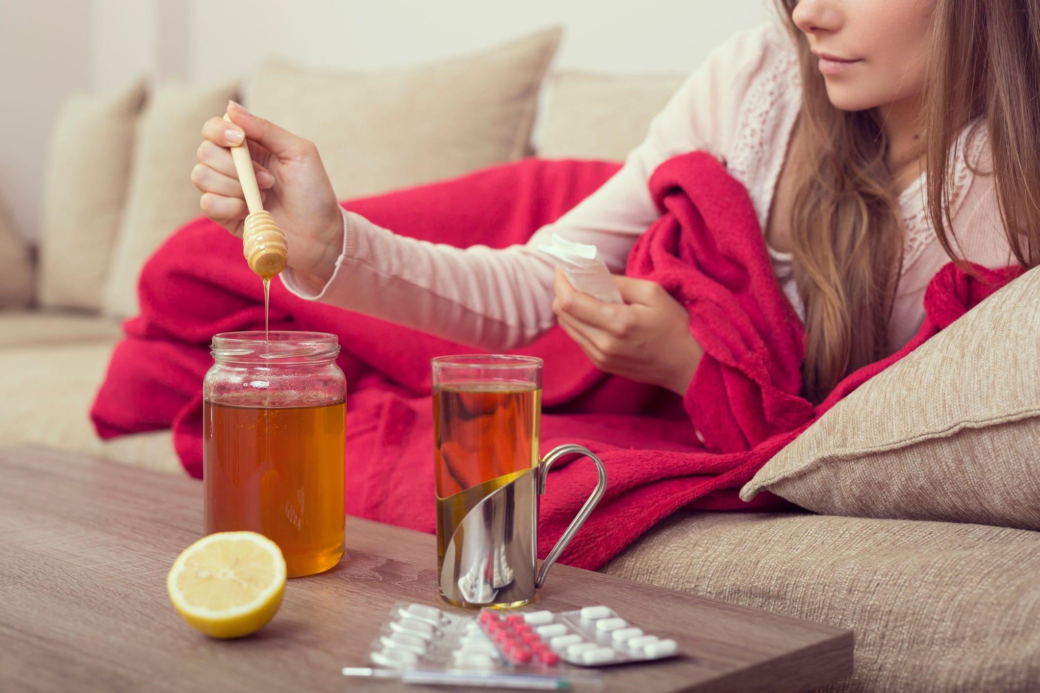 питание и чай при ангине