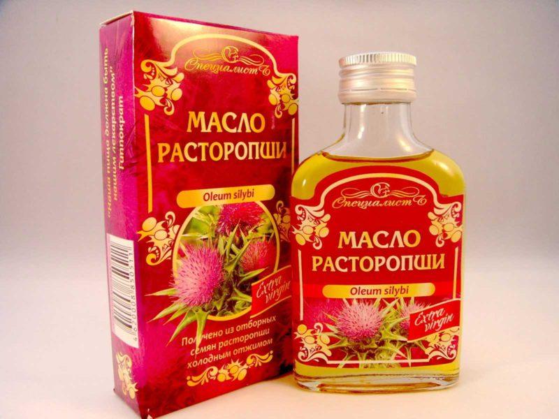 масло расторопши, татарника