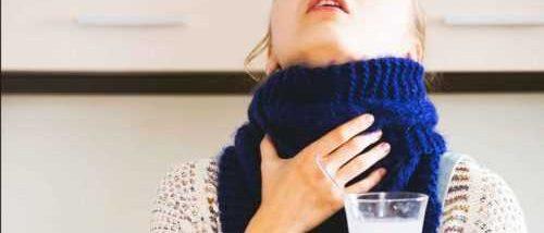 опухшие миндалины, полоскание горла