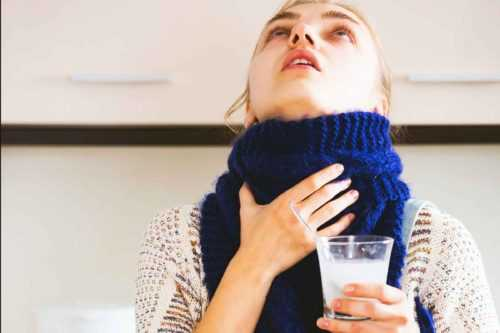 миндалины, полоскание горла