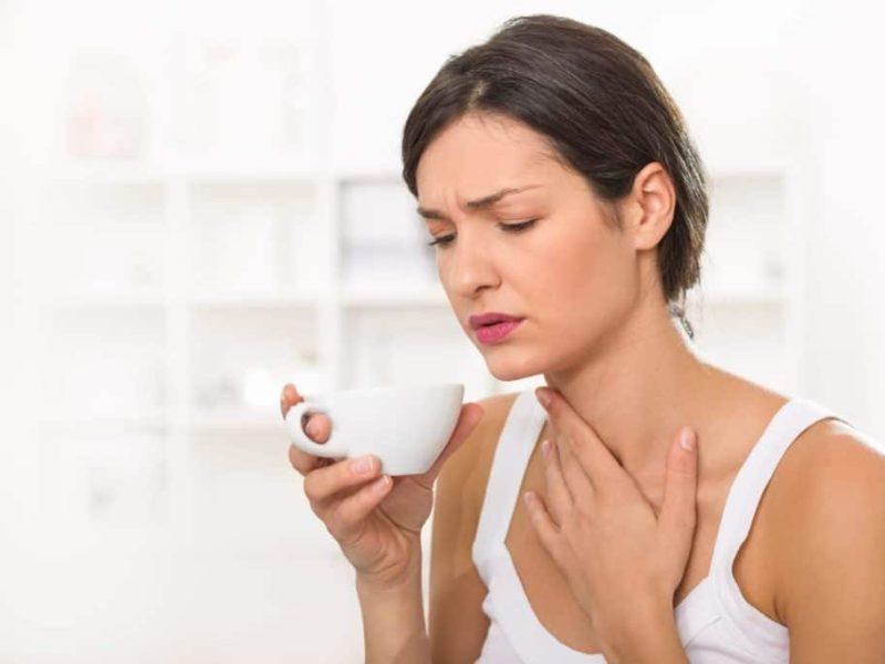 першение в горле лечение